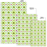 Frog Clover leaves Pattern Area Rug