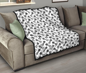 Engine Piston Theme Background Pattern Print Design 05 Premium Quilt