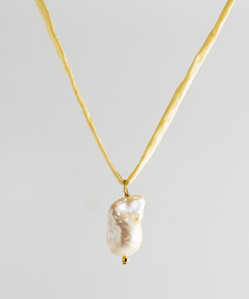 Surigao Pearl Necklace - Yellow Silk Cord