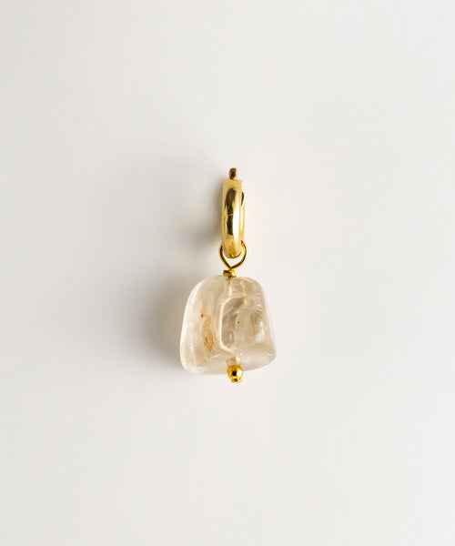 Agusan Crystal Rock Stone - Single Earring
