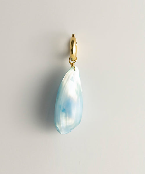 Davao Shell Single Earring - Blue