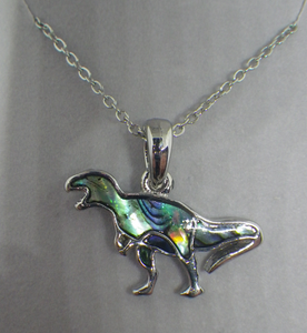 Tyrannosaurus Rex Necklace Inlaid With Abalone