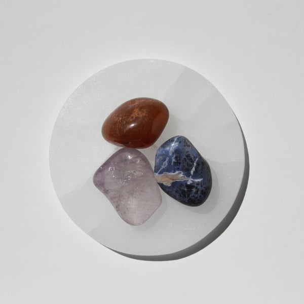 Selenite Charging + Burn Plate