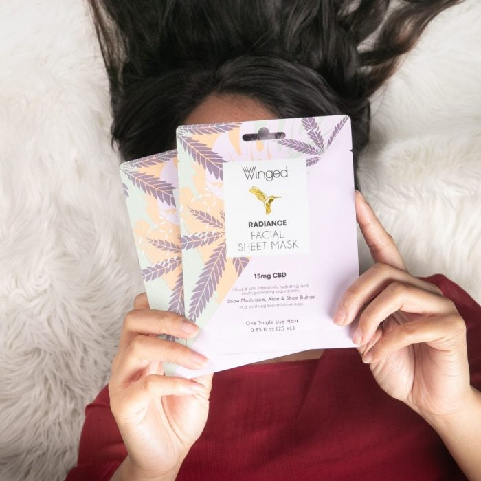 Radiance CBD Facial Sheet Mask