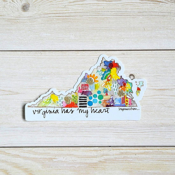 Virginia Has My Heart Vinyl Sticker