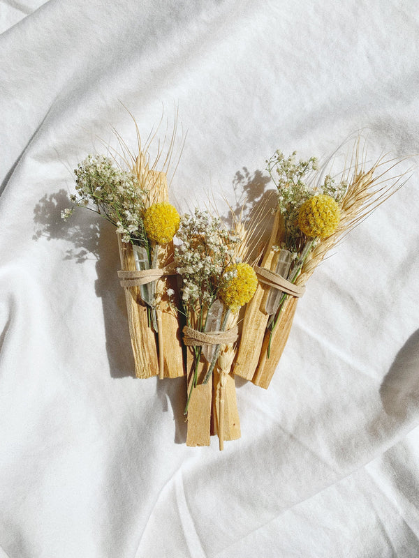Palo Santo + Wild Flowers Quartz Crystal Bundle