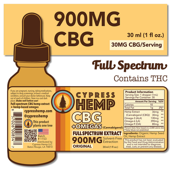 Peppermint CBG Oil + OMEGAS | 900mg
