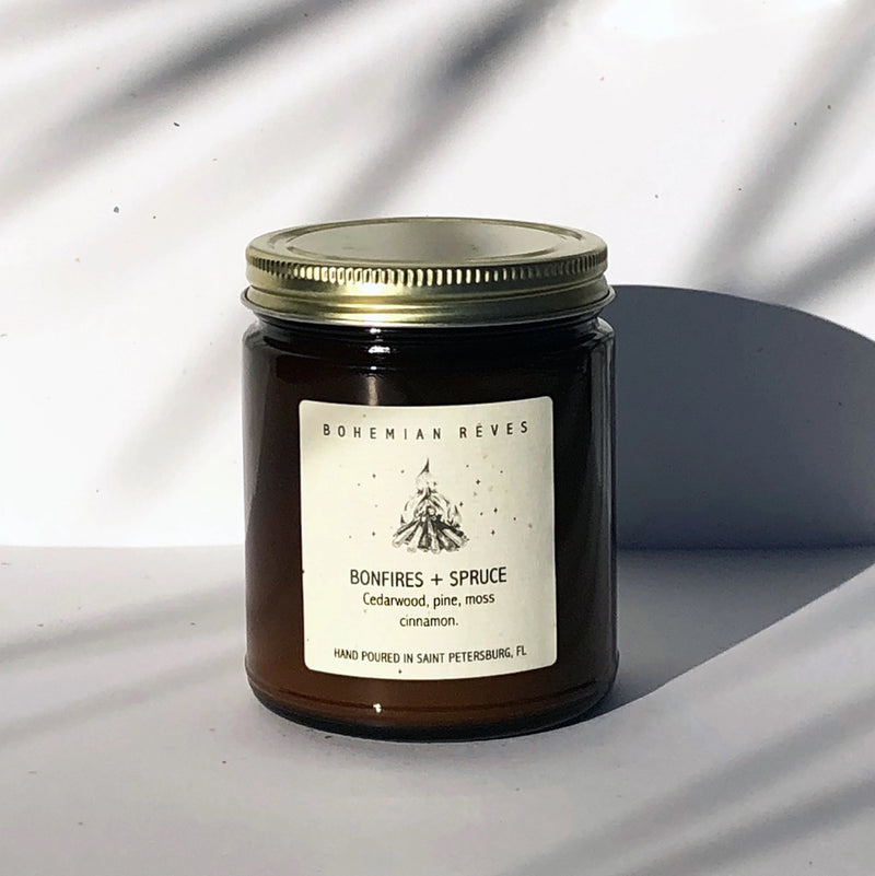 Bohemian Rêves Bonfire + Spruce Candle