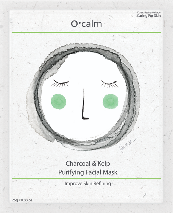 O•Calm Charcoal & Kelp Face Mask