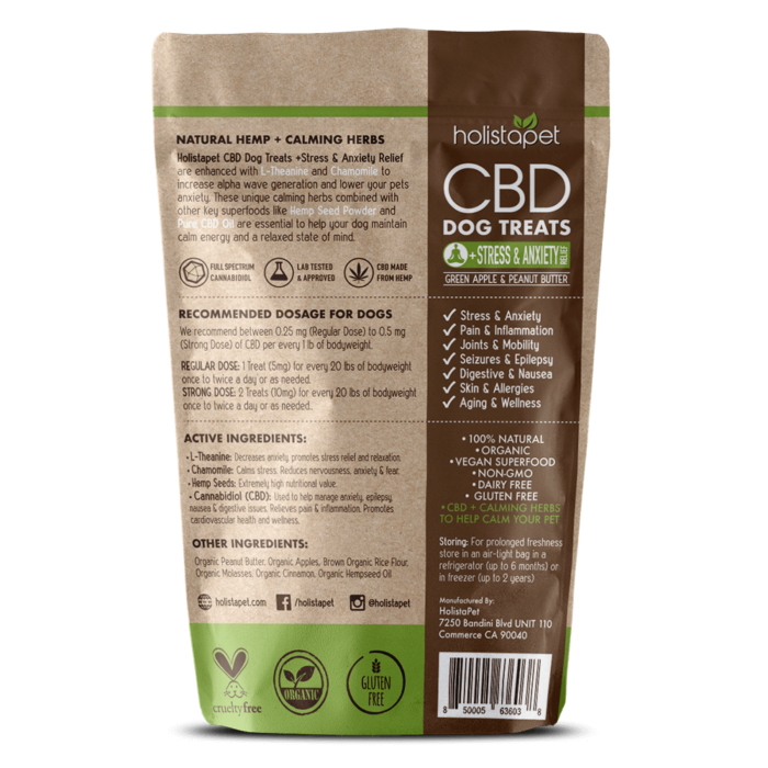 CBD Dog Treats + Stress & Anxiety Relief 300mg