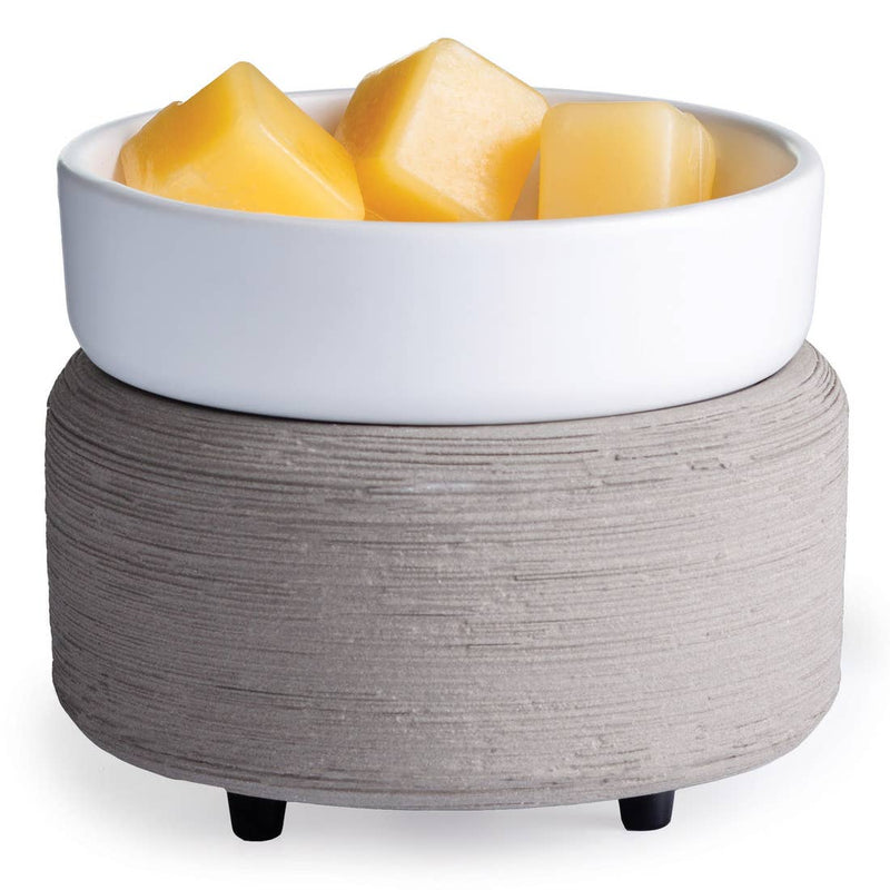 Gray Texture Wax Melt + Candle Warmer