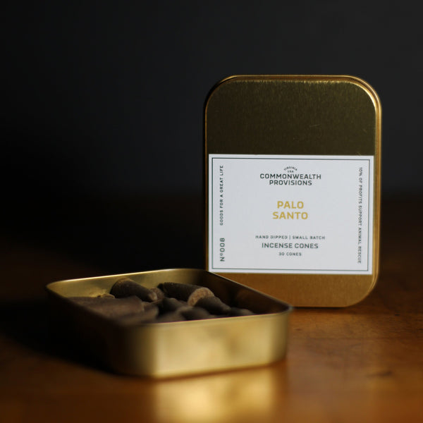 Commonwealth Provisions Incense Cones - Palo Santo