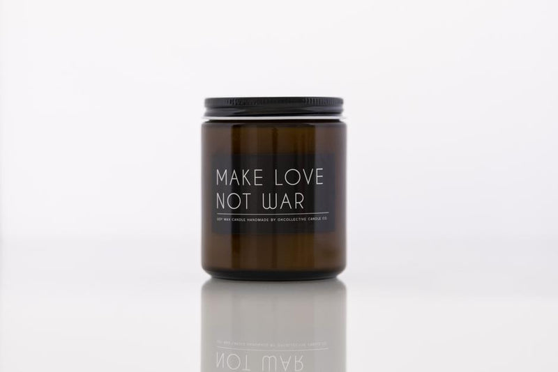 OKcollective Make Love Not War Candle