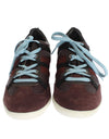 Bordeaux Leather Casual Sneakers