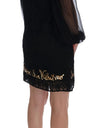 Dolce & Gabbana Black San Valentino Sequined Shift Dress