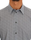 Gray Cotton Pattern GOLD Slim Dress Shirt