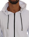 White Full Zipper Hodded Cotton Sweater