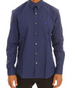 Blue Stretch Slim Fit Dress Shirt