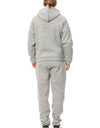 Gray Cotton Hooded Sweatsuit
