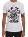 White Cotton RIDERS Crewneck T-Shirt