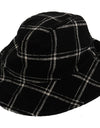 Black Virgin Wool Patterned Hat