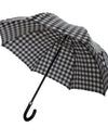 Black White Check Print Umbrella