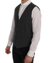 Gray STAFF Cotton Striped Vest