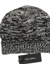 Gray White Wool Winter Beanie