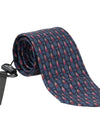 Blue Red Bug Pattern Silk Tie