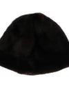 Brown Cashmere Mink Fur Hat