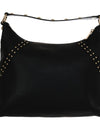 Black ARIA Leather Shoulder Bag