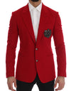 Red Cashmere Slim Fit Blazer