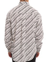 White Black Striped Formal Shirt