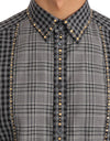 Gray Check GOLD Cotton Slim Fit Shirt