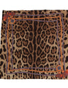 Brown Leopard Silk Scarf