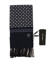 Blue Silk Dotted Print Scarf