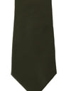 Green Silk Logo Wide Tie