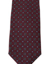Bordeaux Silk Dotted Wide Tie