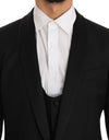 Black Wool Silk MARTINI Slim Smoking Suit