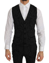 Black Slim Fit 3 Piece Crystal Bee Suit