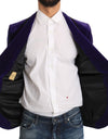 Purple Velvet Slim Fit Blazer Jacket