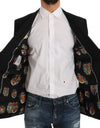 Black Wool MARTINI Coat of Arms Blazer Jacket