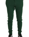 Green 100% Cashmere Casual Warm Sweatpants