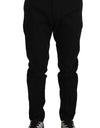 Pants Black Cotton Formal Dress Trousers