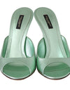 Green Dauphine Leather Mules Stilettos