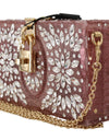 Pink Plexi SICILY Crystal Clutch Purse