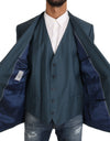 Blazer Vest 2 Piece Blue MARTINI Wool