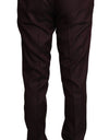Bordeaux Wool Pattern Stripe Trousers Pants