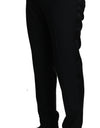 Black Wool Silk Dress Formal Trousers Pants