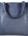 Greenwich Navy Saffiano Leather Large Grab Bag